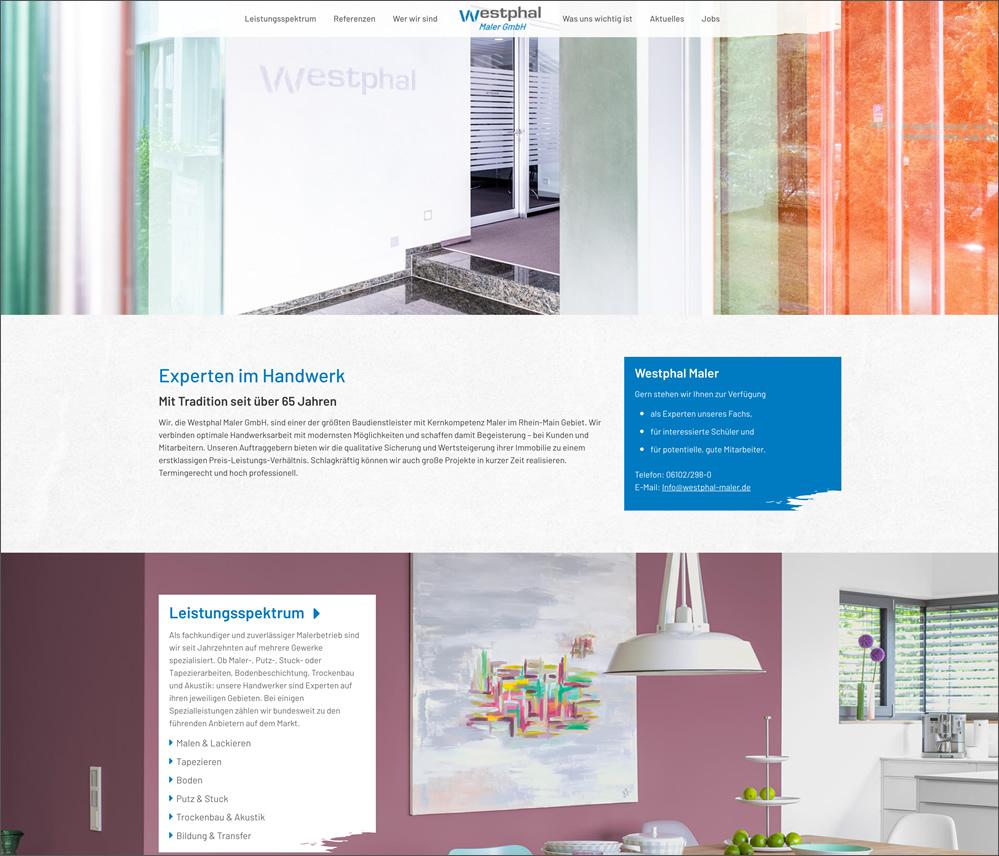 Neues Homepagedesign und WordPress-Programmierung für Westphal Maler