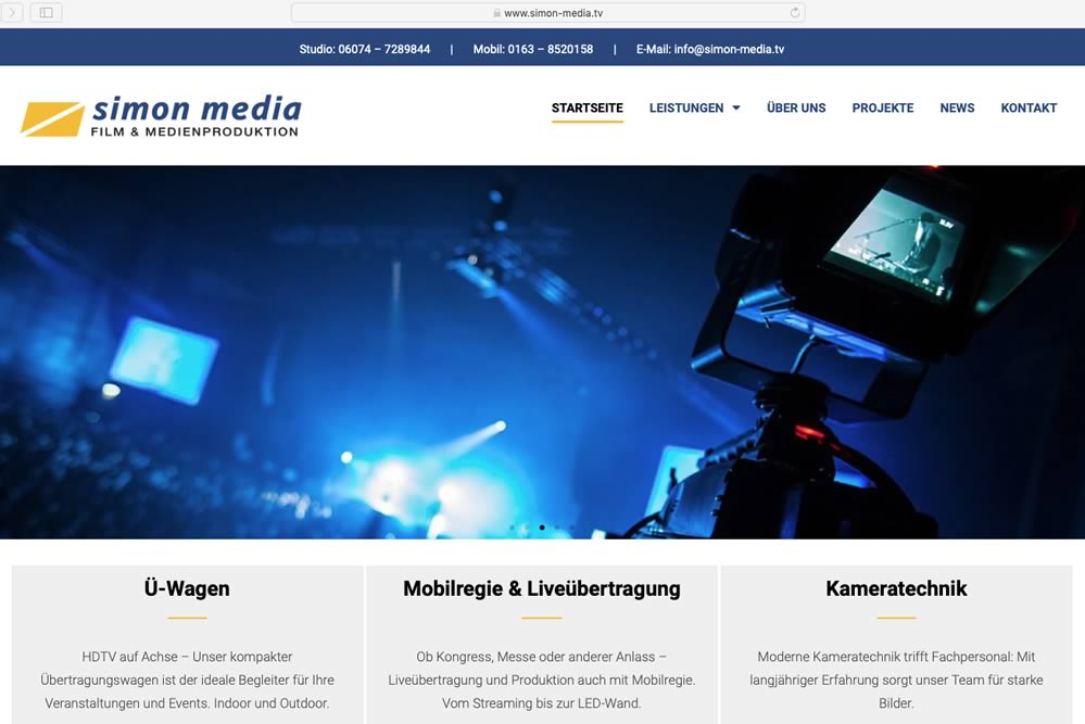 Relaunch SIMON MEDIA - Webdesign mit WordPress